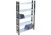 MATRIX - 5 Tier 165 DVD Blu-ray / 250 CD / Media Storage Shelves - White