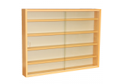 REVEAL - 4 Shelf Glass Wall Collectors Display Cabinet - Beech