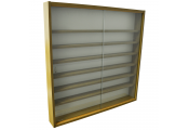 REVEAL - 6 Shelf Glass Wall Collectors Display Cabinet - Oak