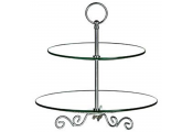 BAROQUE - Two Tier Glass Party Cake Stand / Afternoon Tea / Display
