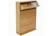 CD 200 - 200 CD Storage Cupboard Tilting 4 Drawer - Beech