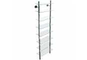 SPLASH - Wall Mounted Glass Bathroom Storage Shelf - Clear