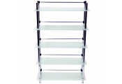SPLASH - 5 Tier Glass Bathroom Storage Shelves - Frosted