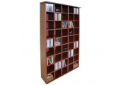 PIGEON HOLE - 585 CD Media Cubby Storage Shelves - Mahogany