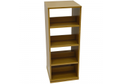 SWIVEL - 4 Tier Rotating 200 CD / 96 DVD Blu-ray Game Storage Shelves - Oak