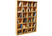 PIGEON HOLE - 480 CD / 312 DVD Blu-ray Media Cubby Storage Shelves - Beech