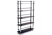 MAXWELL - 5 Tier Bathroom Storage / Display Shelves - Black