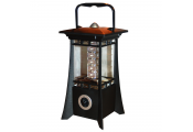 ECO - Hanging / Standing Bright LED Garden Lantern / Light - Black