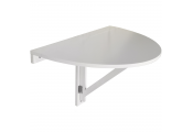 HIDEAWAY - Folding / Fold Down Drop-leaf Wall Mounted Semi Circular Table - White