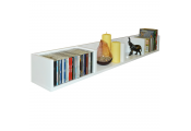 VIRGIL - Gloss 112 CD / 72 DVD / Blu-ray / Media Wall Storage Shelf - White
