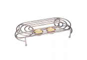 HEAT - Metal Double Food / Plate Warmer - Silver