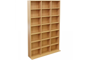 PIGEON HOLE - 588 CD / 378 DVD Blu-ray Media Storage Shelf Unit - Beech