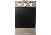 HEART - Wall Mounted Driftwood Effect Blackboard / Chalkboard