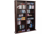 GENESIS - Multimedia 1060 CD / 420 DVD Blu-ray Storage Shelves - Dark Oak