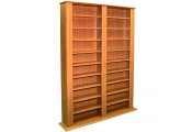 GENESIS - Multimedia 1060 CD / 420 DVD Blu-ray Storage Shelves - Pine