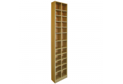 BLOCK - Tall Sleek 360 CD / 160 DVD Media Storage Tower Shelves - Oak