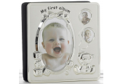 MEMORIES - My First Year Baby Photo Frame / Album - Silver