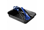 ROAST - Large Non Stick Oven Roasting Dish / Pan with Tongs and Spatula