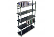 MAXWELL - 5 Tier 165 DVD / Blu-ray / 250 CD / Media Storage Shelves - Black