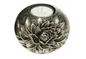 FLOWER - 3D Metallic Single Tea light Holder - Closed Sunflower