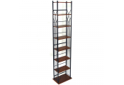 DAKOTA - 140 DVD Blu-ray / 210 CD Media Storage 7 Tier Tower Shelves - Black