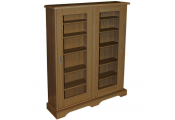HAMPSTEAD - 432 CD or 216 DVD Blu-ray Media Storage Cabinet - Oak