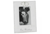 WEDDING - Bridal 4x6 Heart Single Photo Frame - Our Wedding - White