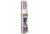 IRIS - Wall Mounted 76 CD / 32 DVD / Blu ray Storage Frame Shelf - White