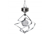 SOLAR - Hanging Garden Light / Wind Spinner Decoration - Silver