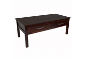 KYOTO - Solid Wood Storage Coffee Table with Two Drawers - Wenge