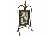 TUDOR - Decorative Metal 10x15cm / 6x4 inch Single Photo Frame - Black / Bronze