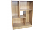 BALANCE - Geometric Display Cabinet / Cubby Storage Shelves - Oak