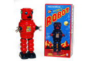 ROBOT CLASSIC - Retro Tin Collectable Ornament - Red