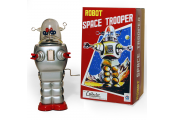 ROBOT CLOCKWORK - Retro Tin Collectable Ornament - Silver