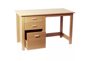 MONTROSE - Home Office Storage Desk / Computer Workstation - Beech