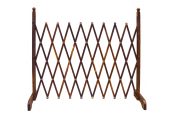 TRELLIS - Solid Wood Expanding Garden Screen - Burntwood