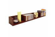 VIRGIL - 108 CD / 72 DVD / Blu-ray / Media Wall Storage Shelf - Mahogany