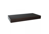 CHICAGO - Wood Effect 40cm Floating Wall Shelf - Walnut