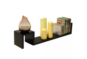 SUNRISE - 78.5cm Wall Storage / Display Floating Shelf - Black