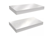 GLOSS - Wall Mounted 40cm Floating Shelf - Pack of Two - White