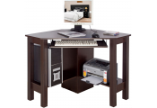 HORNER - Corner Office Desk / Computer Workstation - Walnut