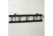 SPIN - Industrial Wall Mounted Folding 5 Hooks Coat Rack - Grey / Black