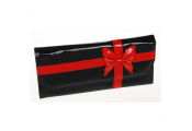 CHIC - Large Jewellery Storage Purse / Bag - Black / Red