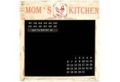 MOMS KITCHEN - Wall Mounted Organiser Blackboard / Chalkboard - Cream