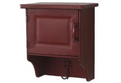 BUTLER - Metal Wall Storage Cabinet with Hanging Hook - Mahogany