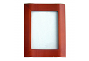 SHOW - Bow Fronted Decorative Single Wood Photo Frame - Red Brown