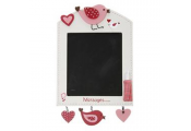 SWEET - Bird Wall Mounted Blackboard / Chalkboard - Cream / Red