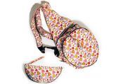 HANDYBAG - Folding / Pop-up / Fold Out Round Rucksack - Hearts - Multi-coloured