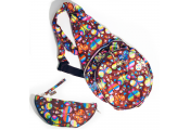 HANDYBAG - Folding / Pop-up / Fold Out Round Rucksack / Reusable Shopper - Retro Butterflies