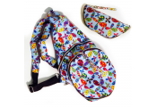 HANDYBAG - Folding / Pop-up / Fold Out Round Rucksack / Reusable Shopper - Retro Flowers